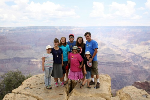 Family at Grand Canyon