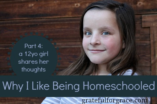 12yo shares her thoughts about homeschooling